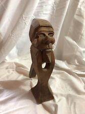 Vintage Carved Wood GNOME TROLL NUTCRACKER Black Forest