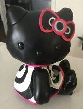 MAC Cosmetics Hello Kitty Collaboration Plush Doll Sanrio Black Leather like