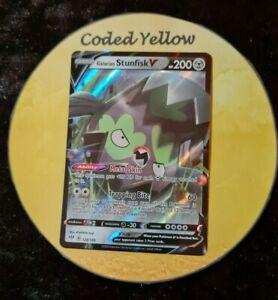 128/189 Galarian Stunfisk V | Pokémon Darkness Ablaze SWSH | HALF ART Card | New