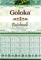 3 boîtes d'encens Goloka Premium Patchouli 15g