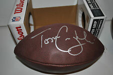 Tom Coughlin hand signed autographed NFL Football New York Giants Super Bowl!