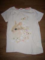 T-Shirt von H&M, Größe 122/128, rosa, Hase