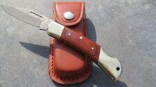 Herbertz Damast Messer Damastmesser Taschenmesser + Lederetui Etui Neu 265711