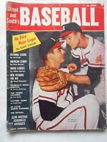 VINTAGE 1958 Street & Smith's Baseball Yearbook Buhl/Burdette Milwaukee Braves
