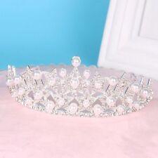 Luxury Stunning Pearl Rhinestones Crystal Bridal Headdress Hair Tiara Wedding