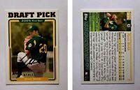 Ryan Webb Signed 2005 Topps #671 Card Oakland Athletics Auto Autograph