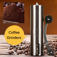Stainless Steel Portable Hand Crank Manual Coffee Bean Grinder Hand Mill r