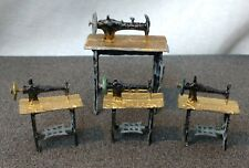 Antique Victorian Miniature Metal Dollhouse Sewing Machines 4 Pieces Mexico