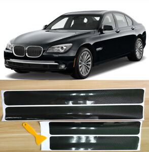 4x Accessories Carbon Fiber Car Scuff Plate Door Sill 5D Sticker Panel Protector
