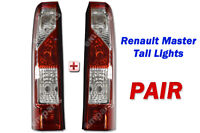 Renault Master Vauxhall Movano Rear Tail Light Pair Left Right N/S O/S 2010 On
