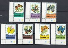 TIMBRE STAMP 7 ILE GRENADE Y&T#625-31 PAPILLON BUTTERFLY NEUF**/MNH-MINT ~B93