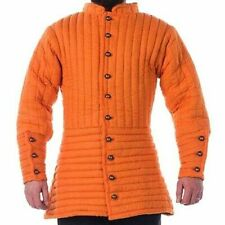 A1-Medieval-Gambeson-thic k-padded-coat-Aketon-vest- Jacket-Armor