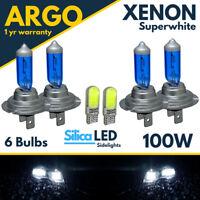 4x H7 Super White Xenon Headlight Bulbs 100w Upgrade Hid 499 Full Dipped 477 12v