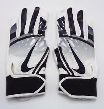 Nike Youth HyperDiamond Edge Batting Gloves youth Medium White/Black/Grey