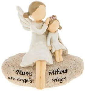 Mums Are Angels Without Wings Daughter Sentimental Pebble Ornament Figurine Gift