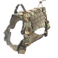 Tactical Dog Coat Training Hunting Molle Nylon Waterproof K9 Dog Harness Handle