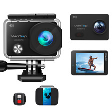 VanTop Moment 3, Waterproof 4K Wi-Fi 16MP Action Sports Camera, W/ Case, NEW