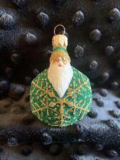 Patricia Breen 2002 Snowflake Noel Santa Green/ Gold