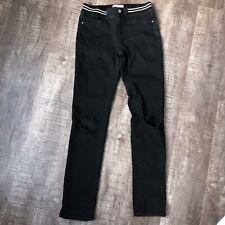 Jordache Skinny Black Ripped Jeans Girls Size 14 Slim