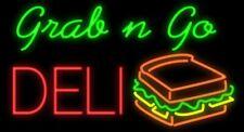 """New Grab n Go Deli Open Beer Light Lamp Neon Sign 32"""" Poster Decor Artwork"""
