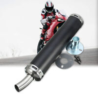 60MM  Universal 2 Stroke Motorcycle Racing Exhaust Pipe Muffler Silence  ^ / **