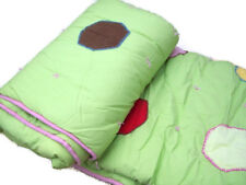 Pottery Barn Kids Green Multi Colors Paige Dots Shape Patch Twin Quilt New