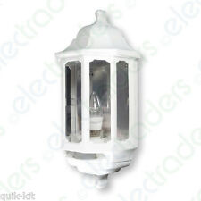 ASD Hl/wk060p LED Half Lantern Wall Light Fitting With PIR Sensor - White