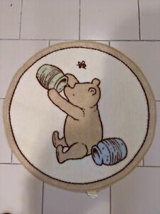 "Classic Winnie the Pooh Disney Rug Baby Infant Nursery Bedroom 28"" Round"