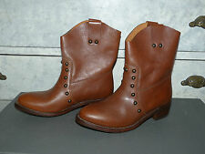 BOTTINES SERGIO ROSSI EN CUIR MARRON T 37,5 F 38,5