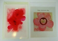 2X HALLMARK FLORAL VALENTINES CARDS FOR DAUGHTER - OOP - UNUSED WITH ENVELOPES