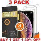 3 PACK For iPhone 12 11 Pro Max XR X XS 8 7 Plus Tempered GLASS Screen Protector
