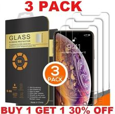 For iPhone 11 Pro Max 12 XR X XS Max 8 7 Tempered GLASS Screen Protector 3 PACK