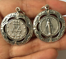 Lovely Silver Catholic mary magdalene Virgin medal Rosary PENDANT Italy