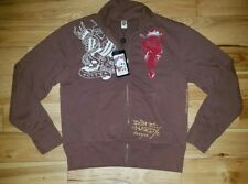 Mens Ed Hardy By Christian Audigier Full Zip Sweater Pullover New XXL