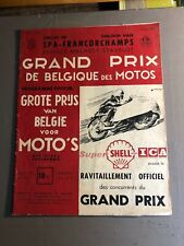 [9715-M28]  Programme officiel - Spa Francorchamps - Moto - 1955