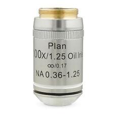 100X Oil Plan Infinity Darkfield ACHROMATIC Microscope Objective IRIS Diaphragm