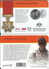 2017 Legends of the Anzacs Collection 20 cent Star of Gallantry Carded Coin