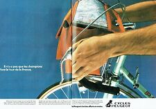 PUBLICITE ADVERTISING 027  1980  Cycles Peugeot  (2p) vélo tour de France