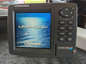 "Lowrance LMS-520C 5"" GPS Radar Sonar Fish Finder Head Unit Chartplotter Map"