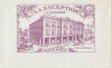 La Exception De Casparino, Habana - Cigar Box Label