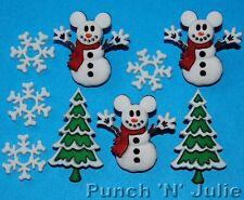 Mickey bonhomme de neige-Disney Arbre de Noël flocon de neige souris robe it up boutons Craft