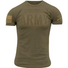 Тяжелую стиль армии-затемнения футболка-загар 499