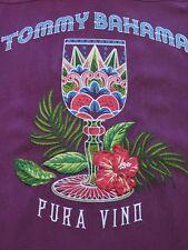 Tommy Bahama Pura Vino Silk Embroidered Grape Wine Hawaiian Shirt Medium NWT NEW