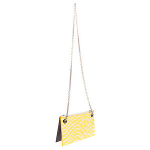 RRP €160 ICEBERG 3in1 Crossbody Clutch Bag PU Leather Zipped Made in Italy