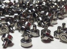 1,5€/Stück; 50 kleine Kugellager Miniaturlager mit Achse für Rollenprüfstand
