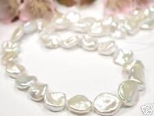 10 x  GROSSE Keshi Perlen weiss ca. 1x1cm für Kenner (LH8a)