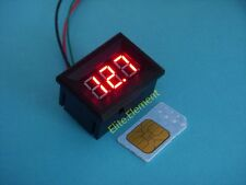 Super Mini Red LED DC 7-30V Volt Meter No Need Power Car Battery 12V 24V WH