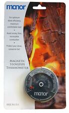 MANOR STOVE PIPE FLUE THERMOMETER FOR LOG BURNING STOVES & FIRES MAGNETIC - 3281