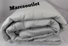Yves Delorme Paris Triomphe Cotton Sateen King Quilted Bedspread Silver