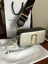 Genuine MARC JACOBS Snapshot Small Camera Bag  Silver MULTI hot sales.